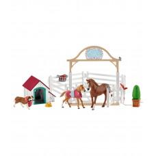 Набор лошадь, жеребенок и собака