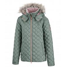 Детская зимняя стеганая куртка Малина