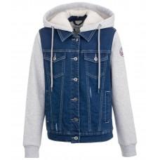 Детская зимняя джинсовая куртка Eleni